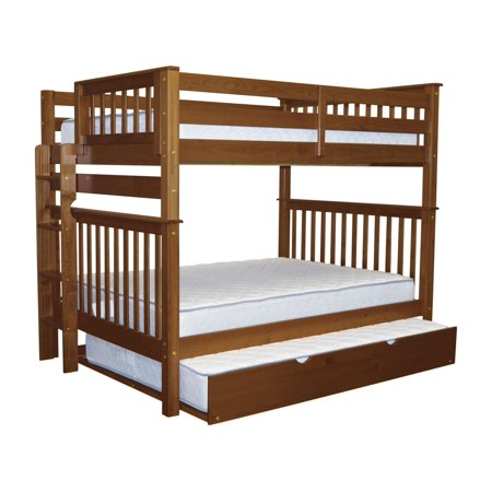 Bedz King Bunk Beds Full Over Full Mission Style With End Ladder And
