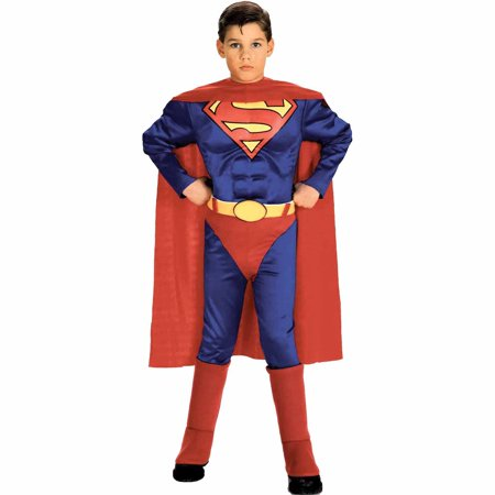 Superman w Chest Child Halloween Costume](Superhero Yellow And Blue Costume)