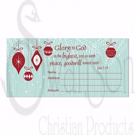 Glory Envelope (Offering Envelope-Glory To God (Pack Of)