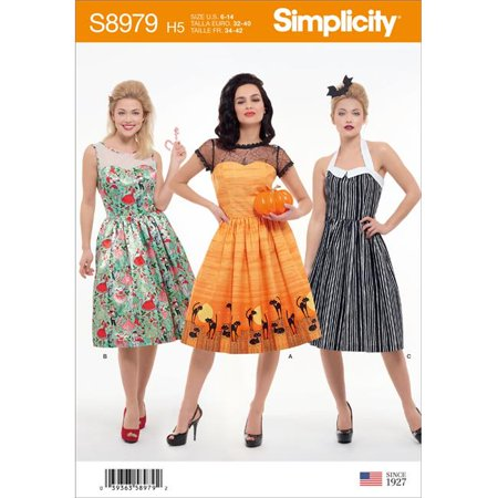 Simplicity US8979H5 Womens Classic Halloween Costume, Size