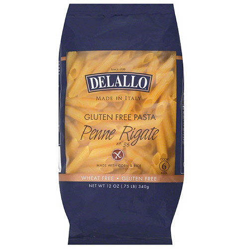 ***Discontinued***DeLallo Penne Rigate Gluten Free Pasta, 12 oz, (Pack of 12)