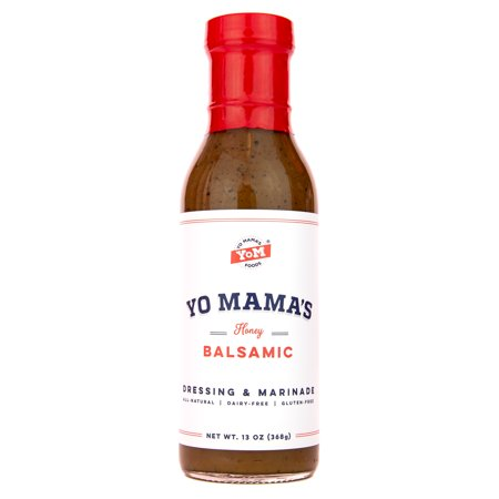 Yo Mama's Foods Gourmet and All-Natural Honey Balsamic Vinaigrette Salad Dressing and Marinade - Low Carb, Low Sodium, and (Everyday Chickpea Quinoa Salad With Balsamic Vinaigrette)