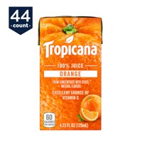 Tropicana 100% Juice Box, Orange Juice, 4.23 oz Boxes 44 Count