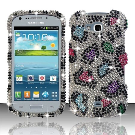 Insten For Samsung Galaxy Axiom R830 / Admire 2 Full Diamond Case - Colorful Leopard