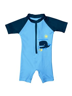 i play. Baby One Piece Swim Sunsuit Blue Whale, 6 Months