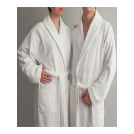 Luxury Hotel & Spa White Terry Cloth 100% Turkish Cotton Unisex Bathrobe
