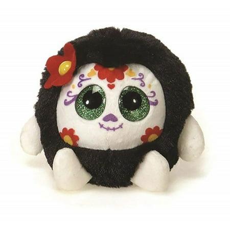 Fiesta Toys Red Lubby Cubbies Sugar Skull 3.5'' Inches My Stuffed Plush Animal Pet - Sugar Skull Stuff