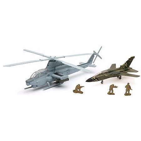 New-Ray Military Mission Helicopter + Plane Set 5 pc Box - New Ray Helicopter
