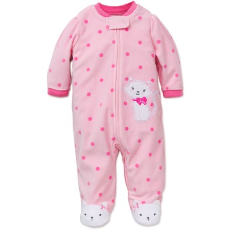 d7d97d11d Little Me - Little Me Kitty Blanket Sleeper Warm Fleece Footie ...
