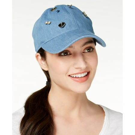 August Hats Womens Charms Denim Baseball Cap (Blue, One Size)