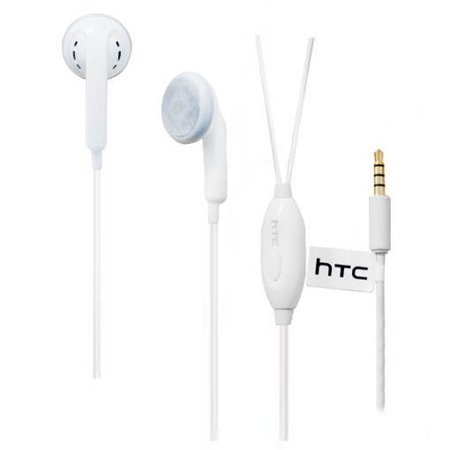 OEM HTC Handsfree Headset 3.5mm Universal Headset for HTC Models - White (Htc New Model)