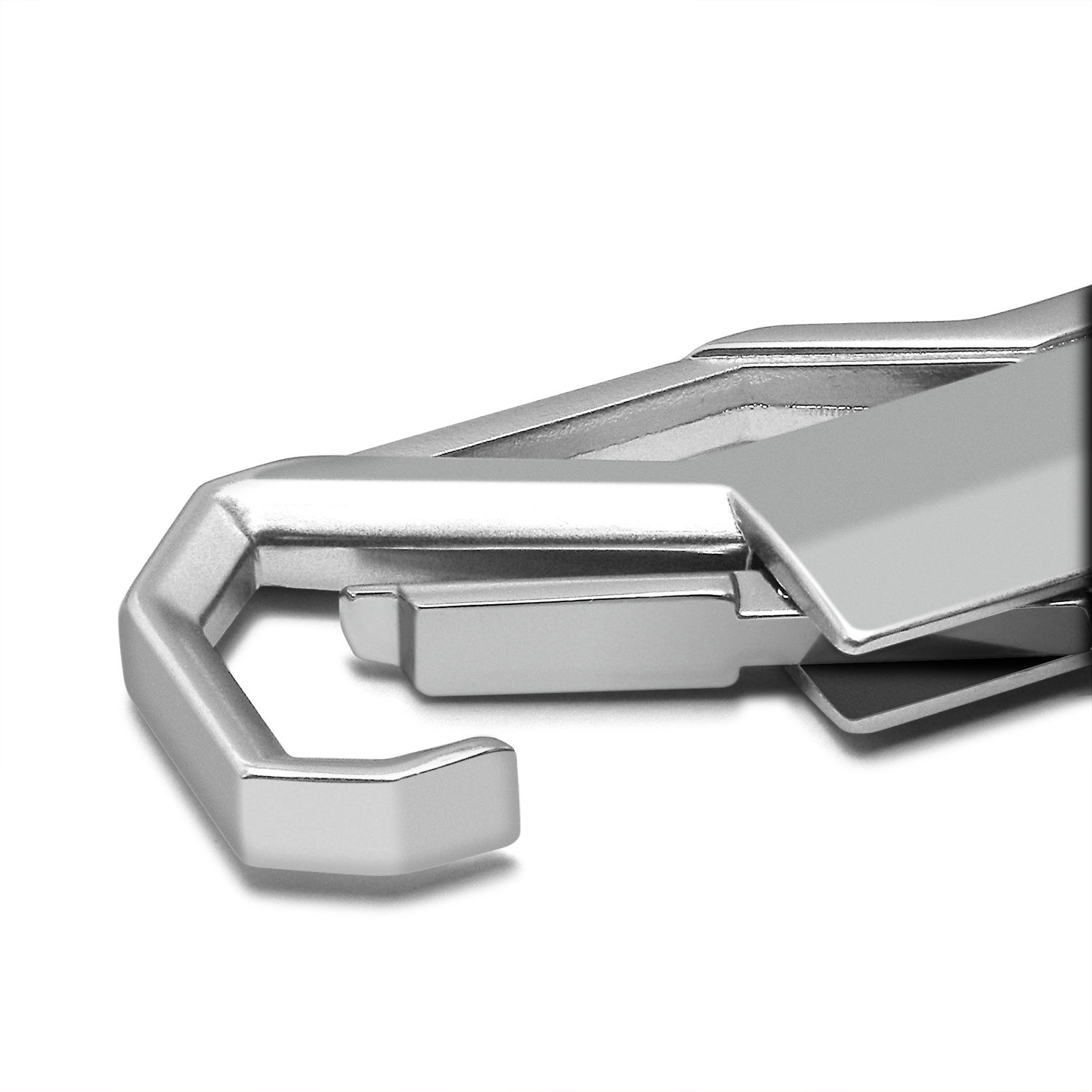 Jeep Silver Carabiner-Style Snap Hook Metal Key Chain iPick Image for