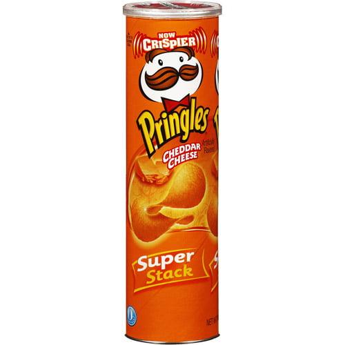 Pringles Super Stack Potato Crisps, Cheddar Cheese, 6.38 oz