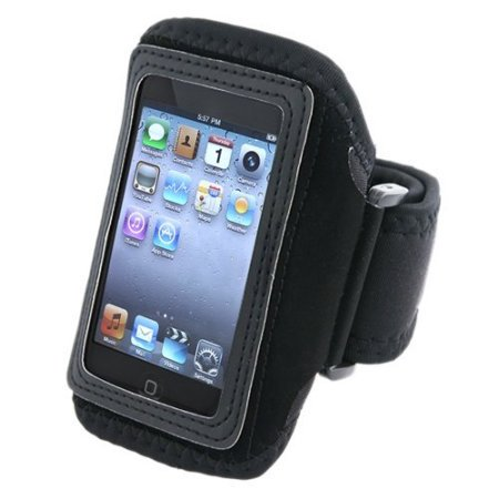 Black Adjustable Deluxe ArmBand / Sportband with Case for Apple iPod Touch / iPod Touch 2nd Generation, iPod Touch 3rd Gen (Ipod Touch Armband 2nd Generation)