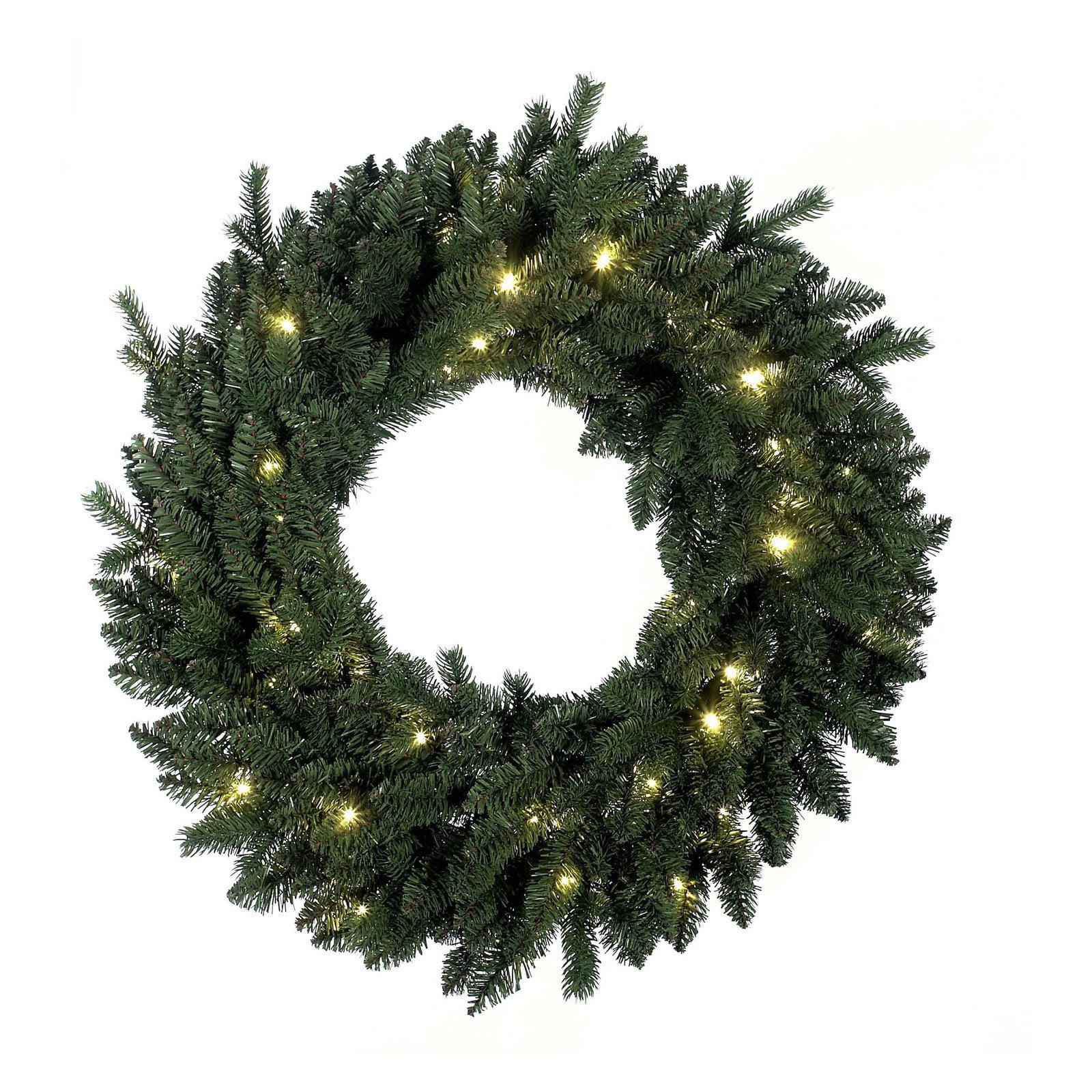 Kurt Adler 36 in. PE LED Pre-Lit Wreath