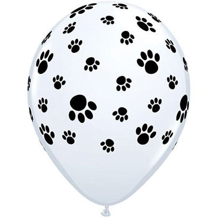 11 Inch Paw Prints A Round Balloons Celebrate In Style With These