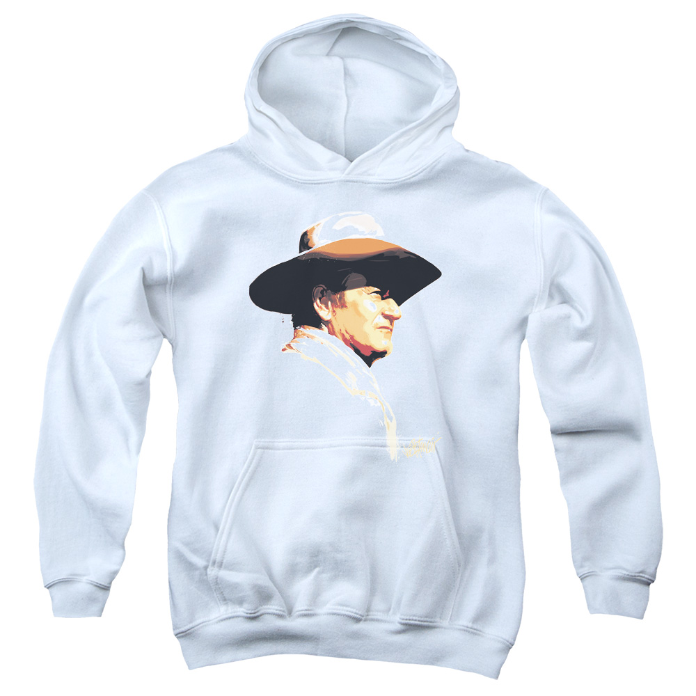 John Wayne Painted Profile Big Boys Pullover Hoodie