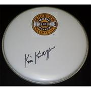 Kris Kristofferson Autographed Drum Head with Logo Sticker