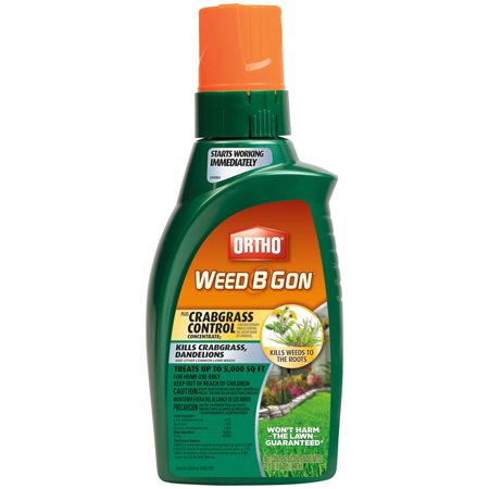 Ortho Weed B Gon MAX Plus Crabgrass Control Weed Killer for Lawns Concentrate,