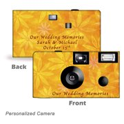 10Pack-Personalized  Orange Daisies Disposable Cameras. Free shipping.  Birthday Cameras, Wedding Cameras, Event Cameras, from CustomCameraCollection WM-50501-P