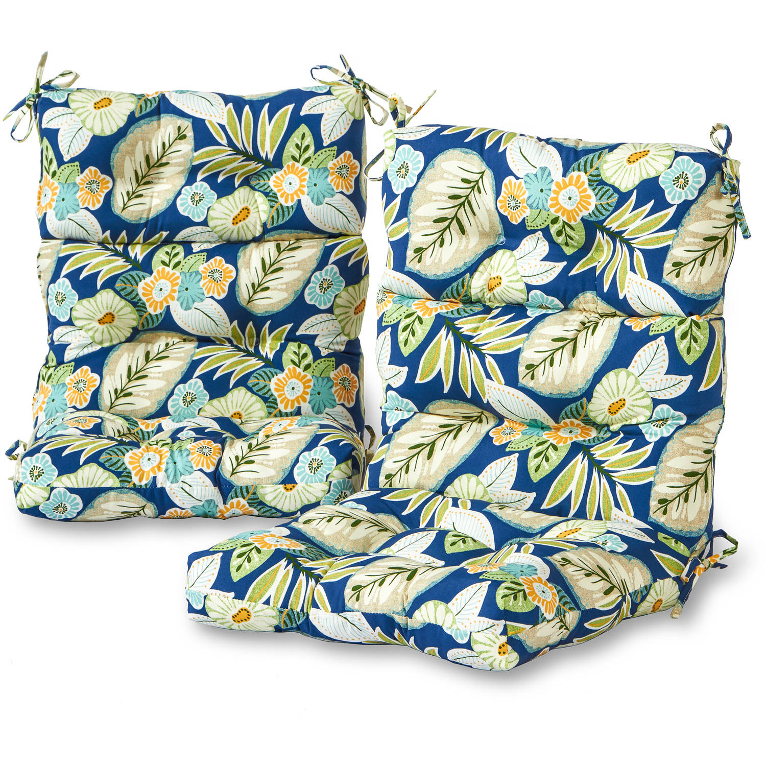 greendale home fashions outdoor high back chair cushions set of 2
