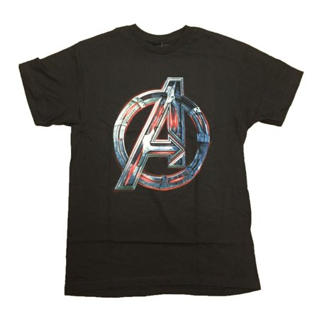 Avengers Age Of Ultron Movie Ultron A Symbol Adult T-Shirt - Avengers Symbols
