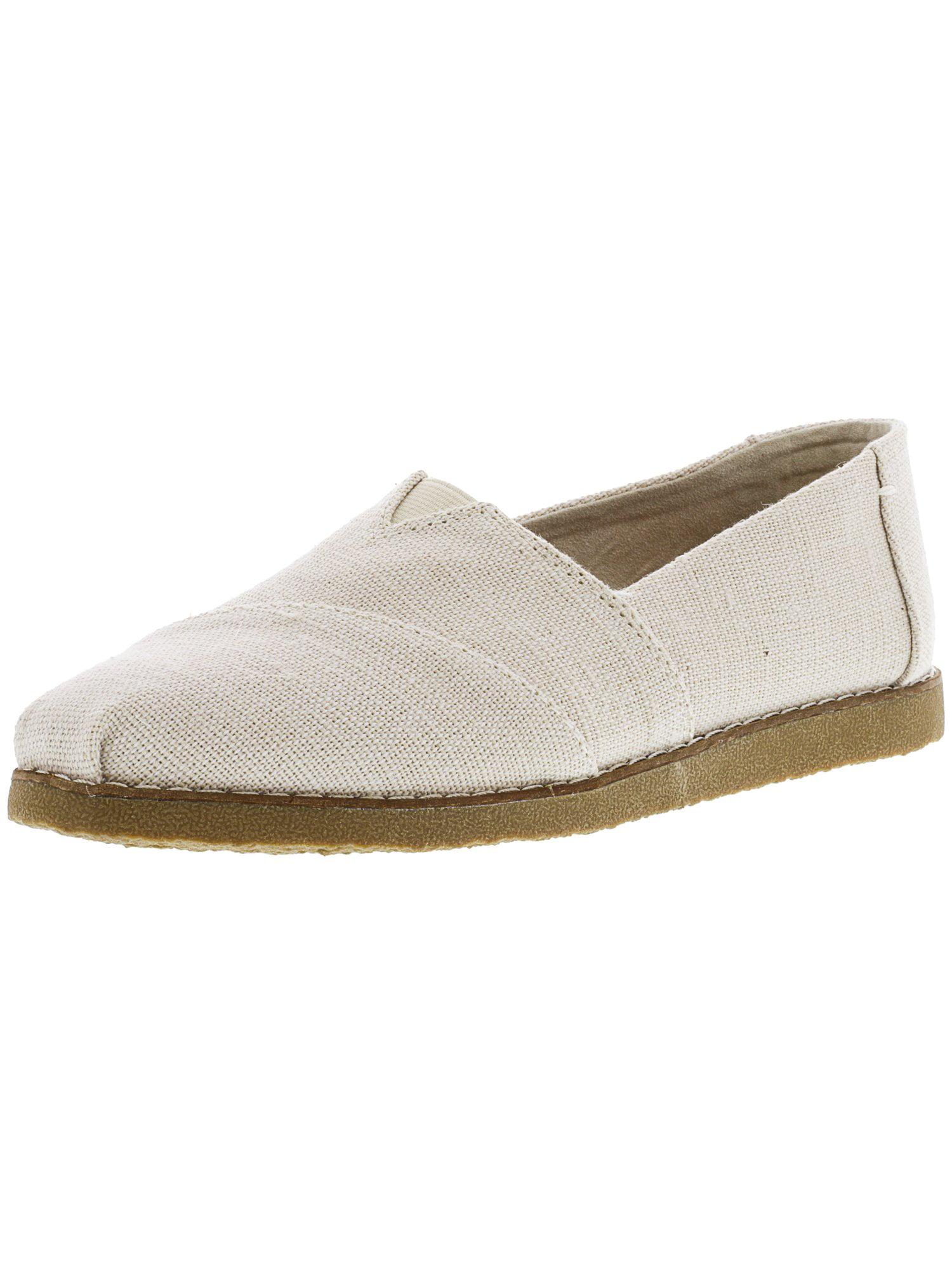 Toms Women's Alpargata Crepe Heritage Canvas Natural Ankle-High Slip-On Shoes - 9M