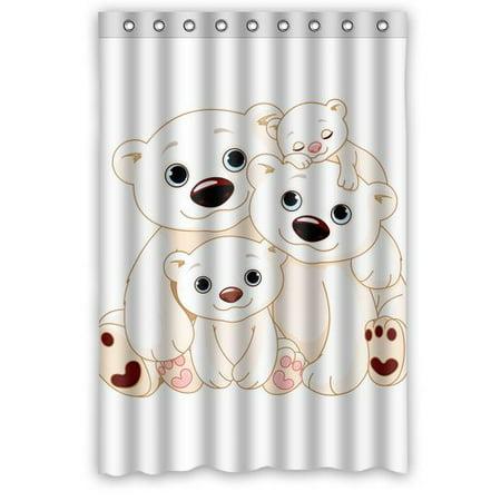 ARTJIA Bear Shower Curtain 48x72 Inches