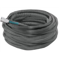 Aqua Joe AJFJH100-PRO Ultra Flexible Kink Free Fiberjacket Garden Hose - 100-Foot - Metal Fittings