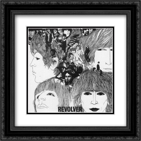 The Beatles: Revolver 2x Matted 20x20 Black Ornate Framed Art Print by  Klaus Voorman