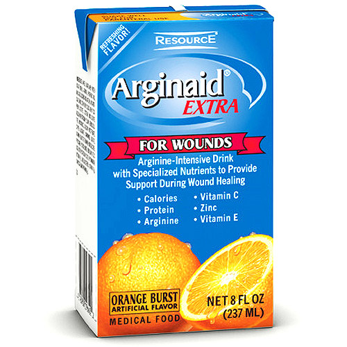 Arginaid Extra Enriched wound recovery beverage, Orange Burst 27 X 8-Ounce