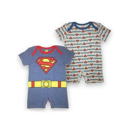 Superman Romper Set, 2 pc Set (Baby Boys) - Superman Outfit