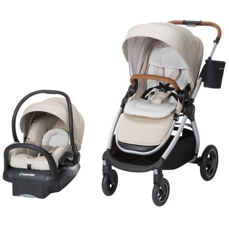 Maxi-Cosi Adorra All-in-One Modular Travel System with Mico Max 30 Infant Car Seat, Nomad Sand ()