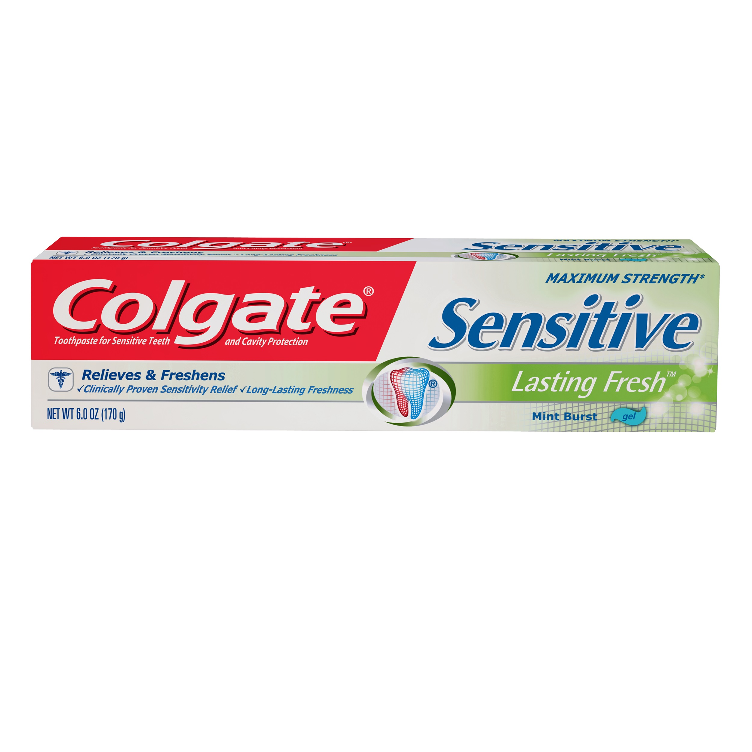 Colgate Sensitive Toothpaste, Lasting Fresh, 6 ounce