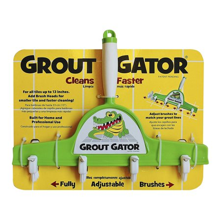 Cleaning Brush, Strong nylon brushes scrub deep into grout By Grout Gator Ship from - Grout Brush Nylon