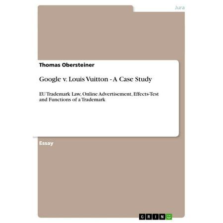 Google v. Louis Vuitton - A Case Study - eBook