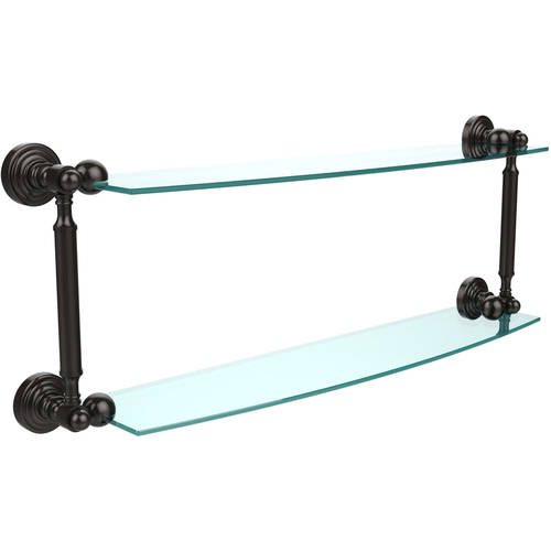 "Waverly Place Collection 24"" 2-Tiered Glass Shelf (Build to Order)"