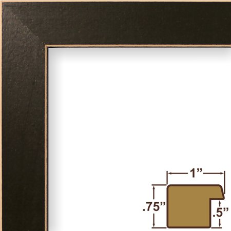Craig Frames Shaker 286, Dark Green Solid Wood Picture Frame, 4 x 6 ...