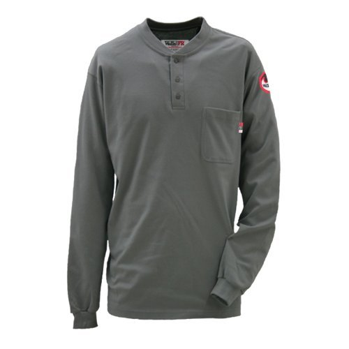 Walls Fro56950J Adult'S Fr Ls Henley Dark Gray Xx-Large