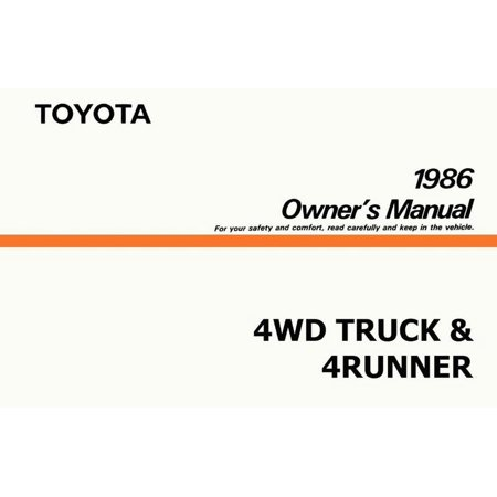 Bishko OEM Maintenance Owner's Manual Bound for Toyota 4Wd