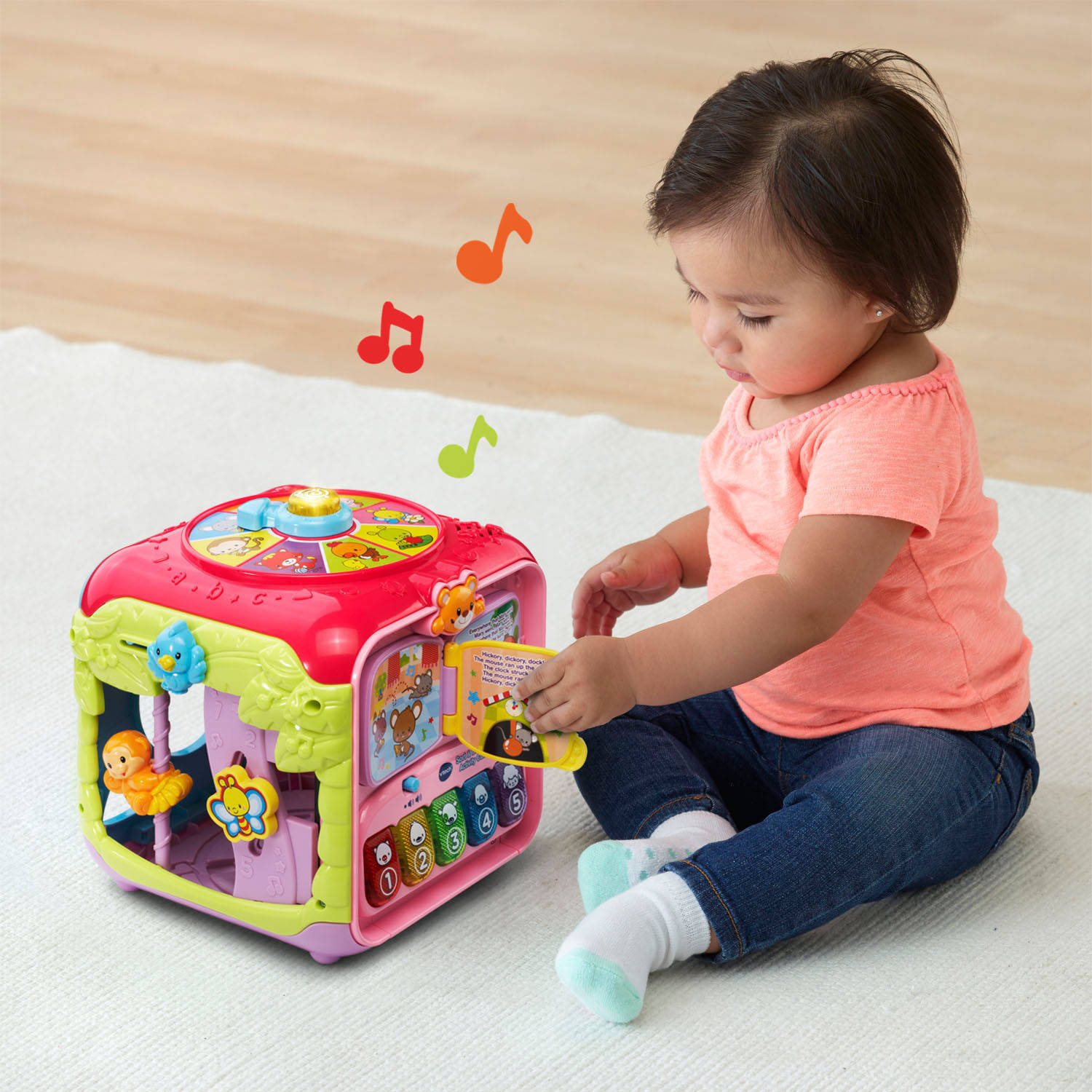 Sort & Discover Activity Cube™ Pink Walmart