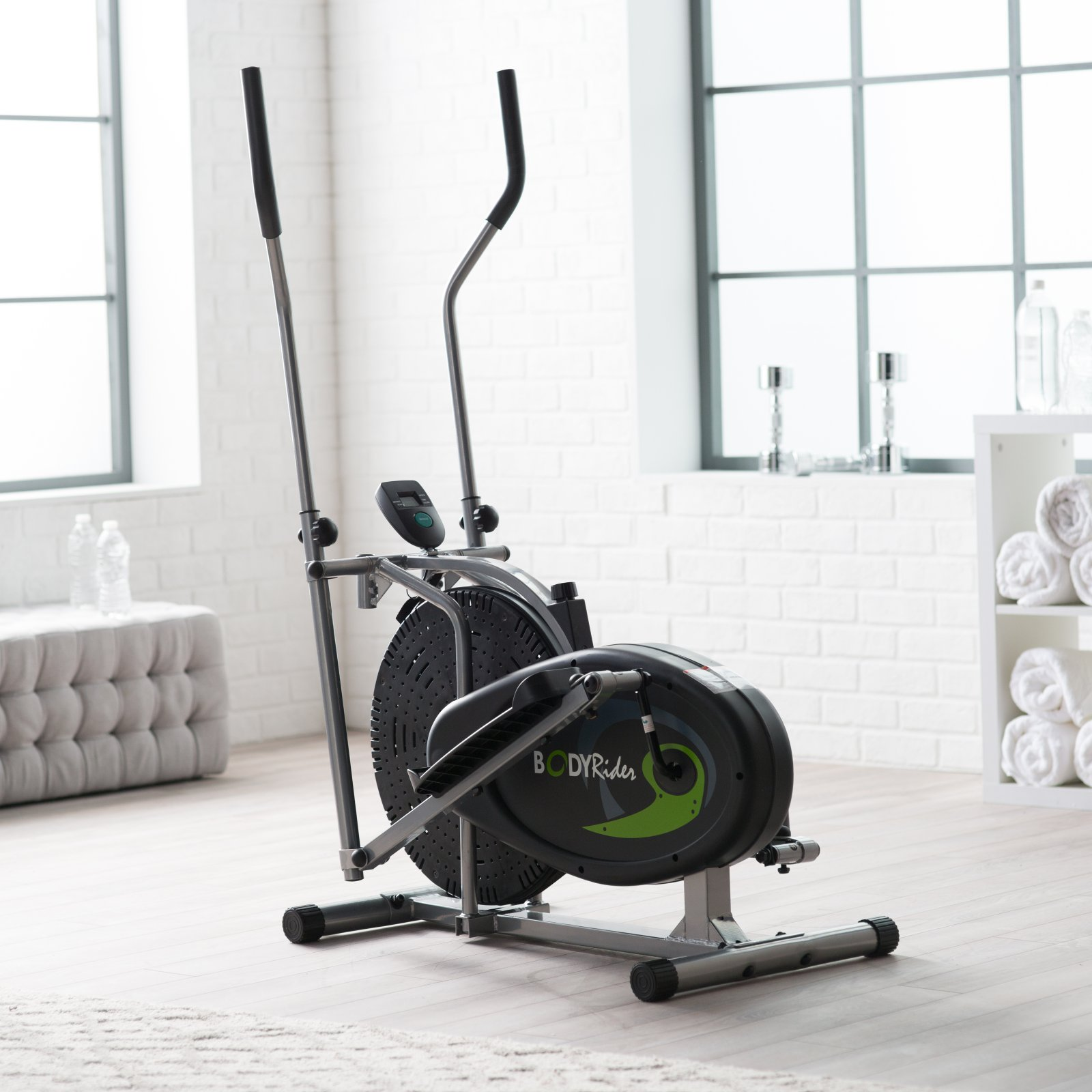Body Rider BR1830 Dual-Action Fan Elliptical Trainer by HUPA International Inc