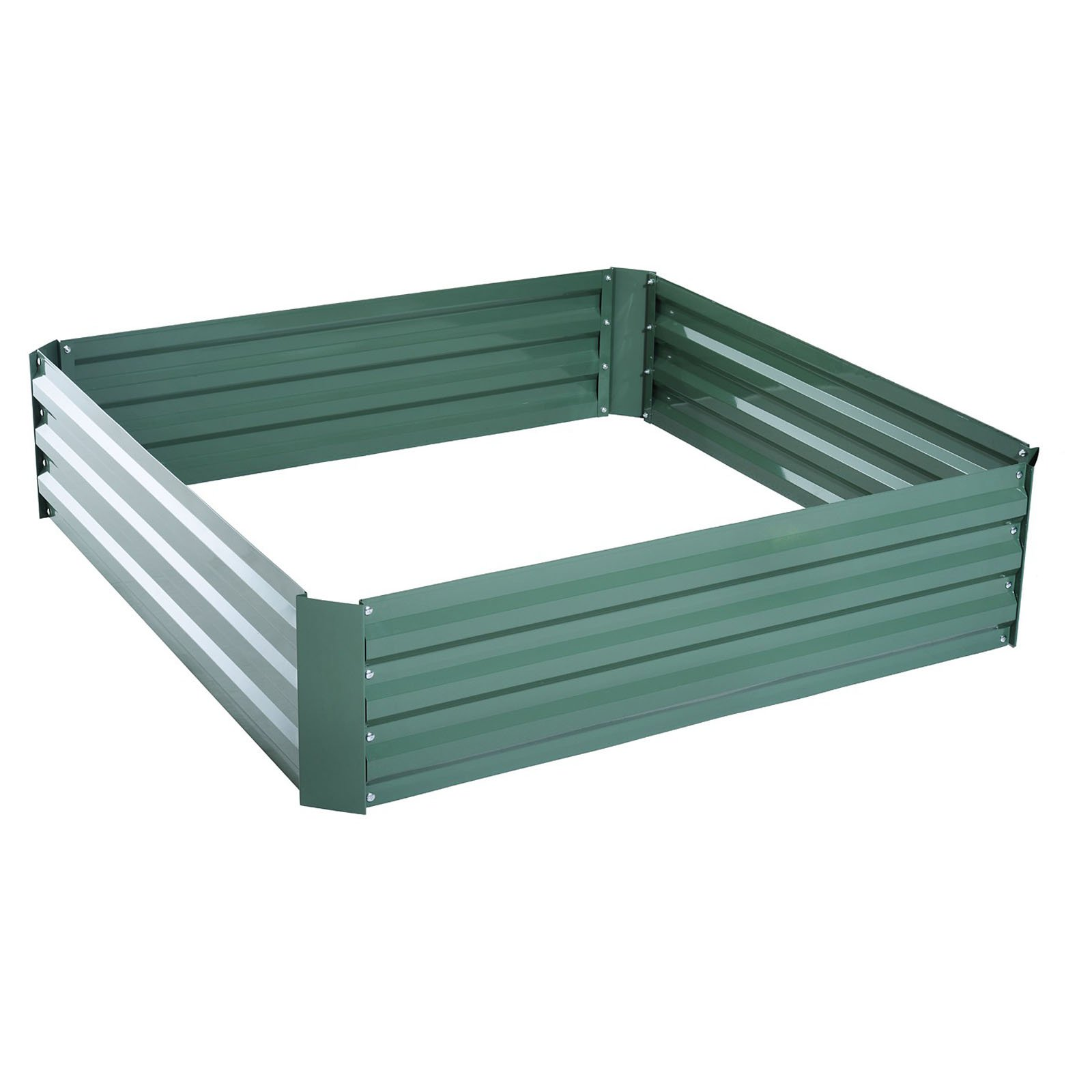 Outsunny 49 x 49 in. Galvanized Metal Raised Garden Bed