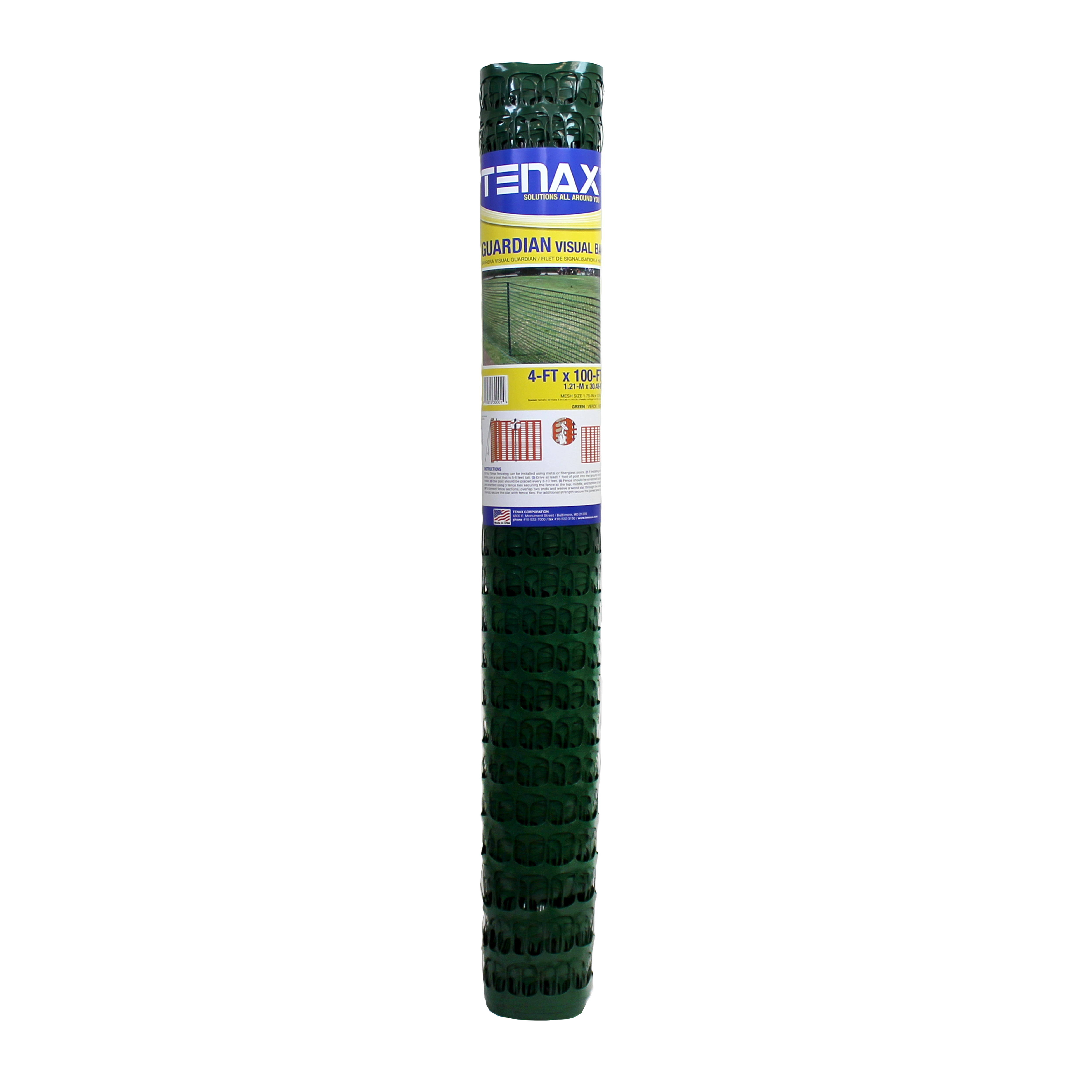 Tenax Guardian Safety Fence, Green, 4 X 100 Feet by Tenax