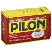 Caf Pilon Espresso Ground Coffee, 16-Ounce
