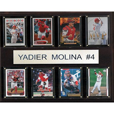C&I Collectables MLB 12x15 Yadier Molina St. Louis Cardinals 8-Card Plaque
