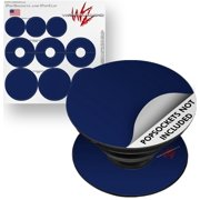 Decal Style Vinyl Skin Wrap 3 Pack for PopSockets Solids Collection Navy Blue (POPSOCKET NOT INCLUDED) by WraptorSkinz