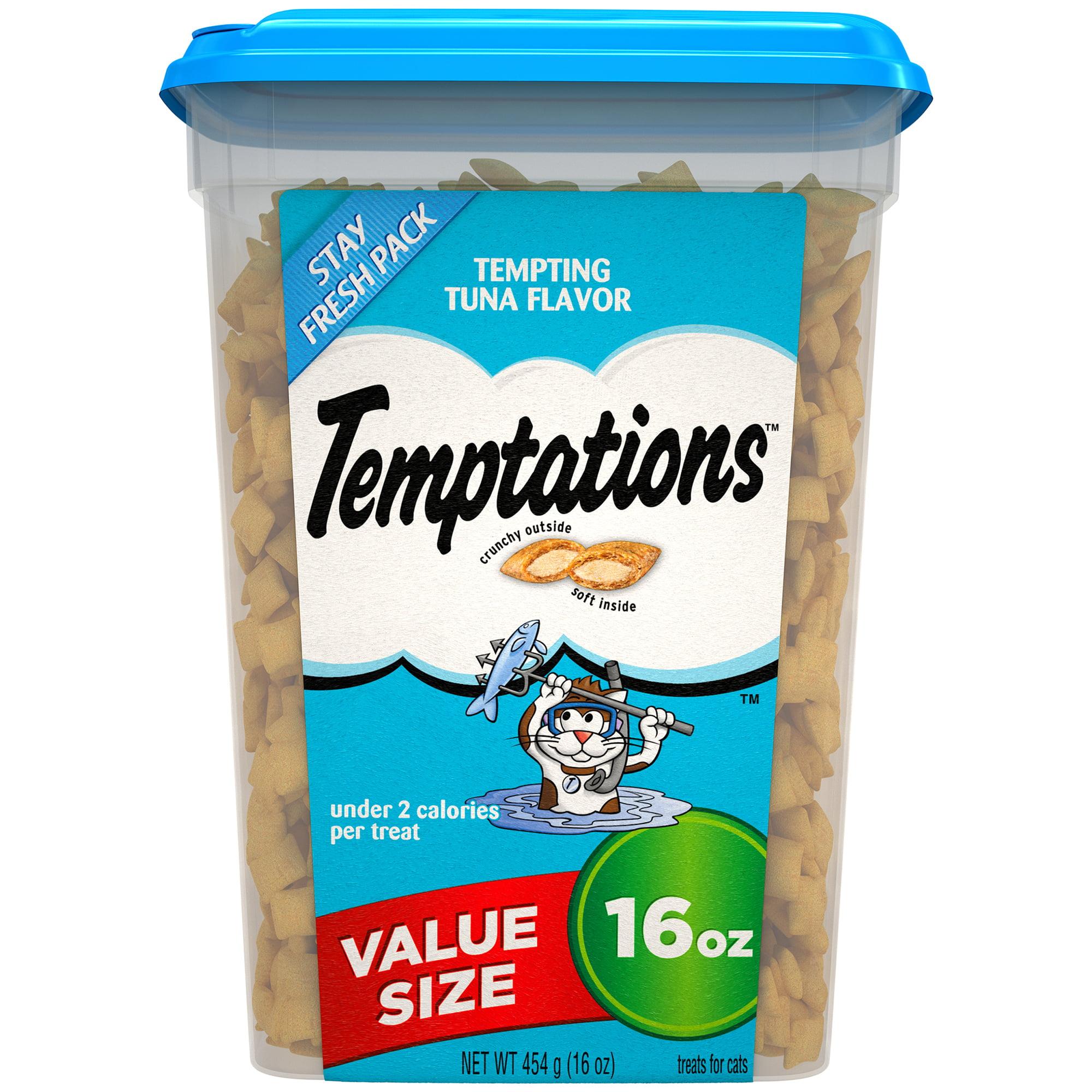 TEMPTATIONS Classic Treats for Cats Tempting Tuna Flavor, 16 oz. Tub