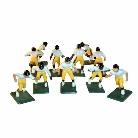 Electric Football 11 Regular Size Players in Yellow Black Away Uniform 3.5 Acrylic Football Player