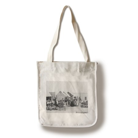 Pottery Market in Mexico Photograph (100% Cotton Tote Bag - Reusable)